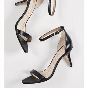 Sam Edelman Patti Black Leather Heels